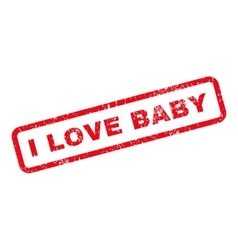 I Love Baby Text Rubber Stamp vector image