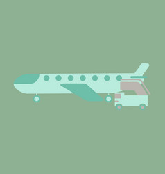 icon in flat design for airport airplane gangway vector image