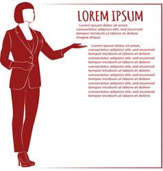 image of standing modern businessman vector image
