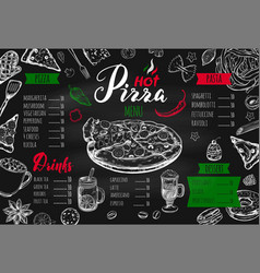 italian food menu 2 vector image
