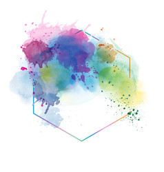 Light color abstract watercolor background vector