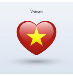 Love Vietnam symbol Heart flag icon vector image