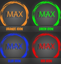 Maximum sign icon Fashionable modern style In the vector
