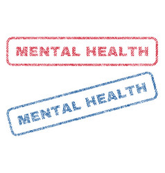 mental health textile stamps vector image
