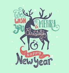 Merry Christmas Deer vector