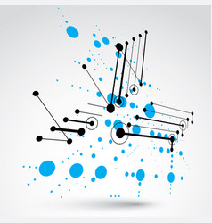 Modular bauhaus 3d blue background created from vector