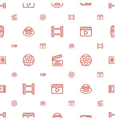 Movie icons pattern seamless white background vector