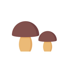 Mushroom icon pair porcini flat design vector