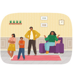 Mutual relations parents and children mom vector