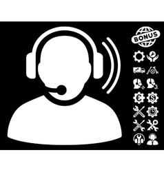 Operator Signal Icon with Tools Bonus vector