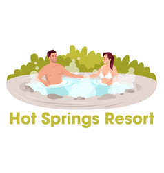 outdoors resort semi flat rgb color vector image