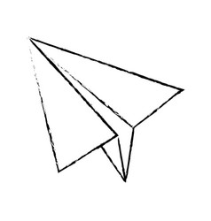 Paper airplane business success motivation image vector