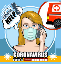Please help a comic poster infected coronavirus vector
