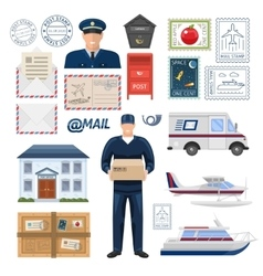 Post Office Set vector image vector image