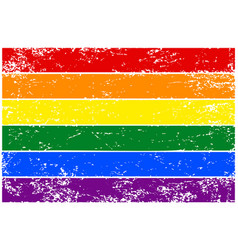 rainbow flag lgbt colorful hand-drawn banner with vector image