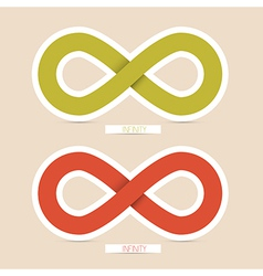 Red and Green Paper Infinity Symbols vector image