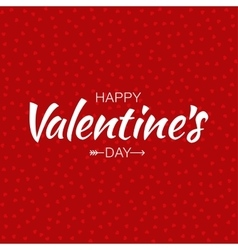 Red happy valentines day card hearts background vector