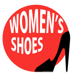 round sign shop womens shoes vector image