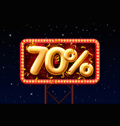 sale 70 off ballon number on night sky vector image