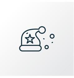 santa hat icon line symbol premium quality vector image