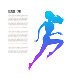 schematic running woman silhouette vector image