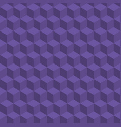 Seamless geometric cubes pattern ultra violet vector