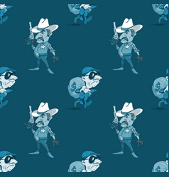 Sheriff and thief seamless pattern vector