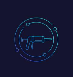 silicone gun linear icon vector image