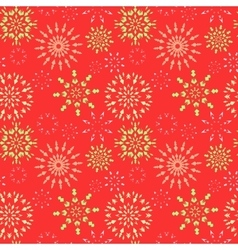 Snowflake seamless pattern Christmas winter vector image