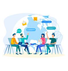 Social media online communication vector