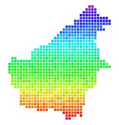 Spectrum pixel borneo island map vector