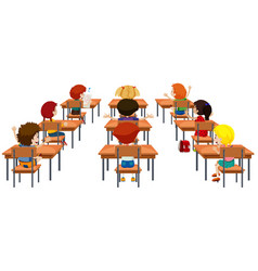 student in the classroom isolated vector image