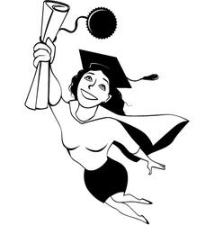 Super graduate vector image