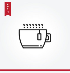 tea icon in modern style for web site and mobile vector image