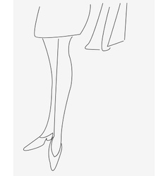 The outline of the legs of a young girl vector