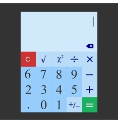 The simple flat calculator which is designed for vector