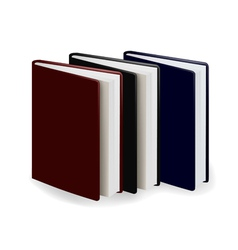three diary vector image