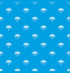 umbrella pattern seamless blue vector image