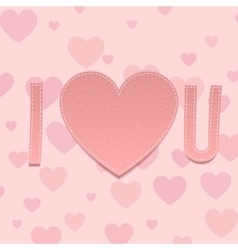 Valentines Day paper Inscription I love U vector image