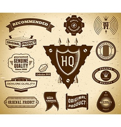 Vintage labels Collection 14 vector image