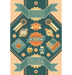Vintage sale labels vector image