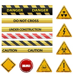 Warning signs Stock vector