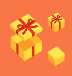 Yellow Christmas Box vector image