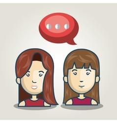 cartoon character bubble speech talk graphic vector image