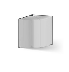 open book on white background mockup template vector image