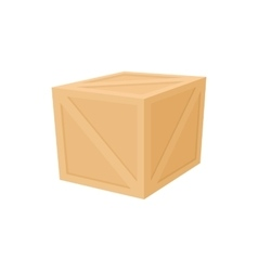 Wooden box icon cartoon style vector image