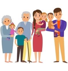 Big Family portrait vector image vector image