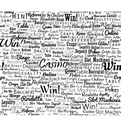 Casino typographic seamless vector image
