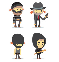 criminals vector image vector image