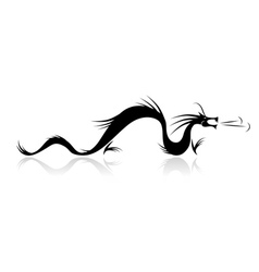 Dragon tattoo for your design vector image